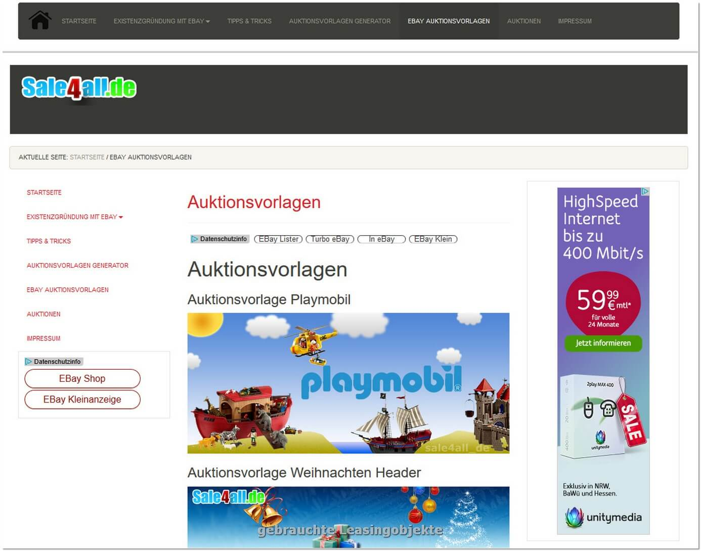 Domain sale4all.de